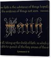 Steadfast Faith Canvas Print