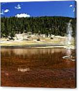 Steam At Firehole Lake Canvas Print