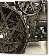 Steam Power Monochrome Canvas Print
