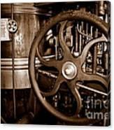 Steam Wheel Canvas Print