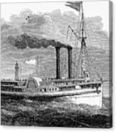 Steamboat, 1850 Canvas Print