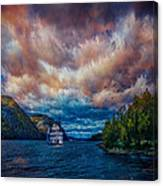 Steamboat On The Hudson River Canvas Print