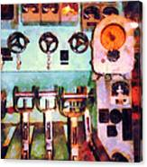 Steampunk - Electrical Control Room Canvas Print