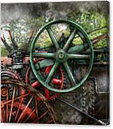 Steampunk - Machine - Transportation Of The Future Canvas Print