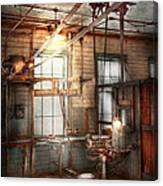 Steampunk - Machinist - The Grinding Station Canvas Print