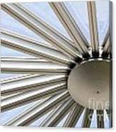 Steel Sun Canvas Print