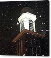 Steeple In The Snow Canvas Print