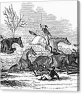 Steeplechase, 1845 Canvas Print