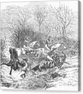 Steeplechase, 1847 Canvas Print