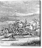 Steeplechase, 1863 Canvas Print