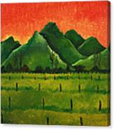 Stellenbosch Mountain Canvas Print