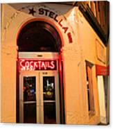 Stella Cocktail Bar At Night Canvas Print
