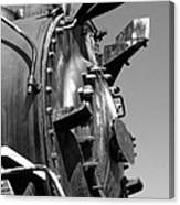 Steme Engine Front Black And White Canvas Print