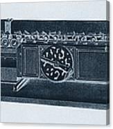 Step Reckoner, Leibniz Mechanical Canvas Print