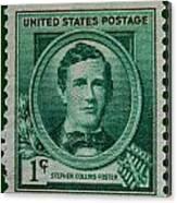 Stephen Collins Foster Postage Stamp Canvas Print