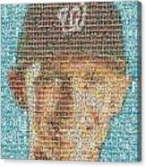 Stephen Strasburg Card Mosaic Canvas Print