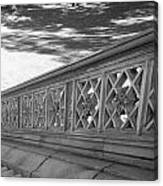 Steps Of Central Park In Black And White Canvas Print
