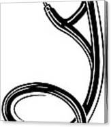 Stethoscope, Lino Print Canvas Print