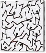 Stickmen Characters Nine Eleven Two Thousand Ten Canvas Print