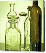 Still Life Of Bottles  Canvas Print