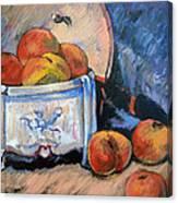 Still Life Peaches Canvas Print