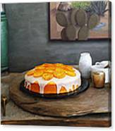 Still Life With Cake And Cactus Canvas Print
