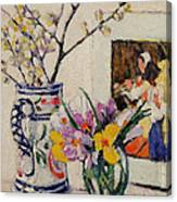 Still Life With Flowers In A Vase   Canvas Print