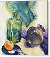 Still Life With Green Bottle Canvas Print