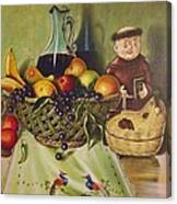 Still Life With Moms Needle Work Canvas Print