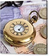 Still Life With Pocket Watch, Key Canvas Print