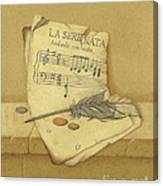 Still Life With Sheet Music Canvas Print