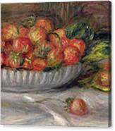 Still Life With Strawberries Canvas Print