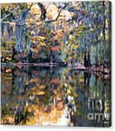 Still Waters - Autumn Reflections Canvas Print
