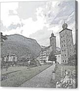 Stockalper Castle Canvas Print