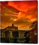 Stockholm In Autumn Canvas Print
