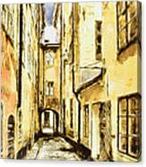Stockholm Old City Canvas Print
