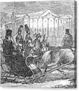 Stockholm: Sleighing, 1850 Canvas Print