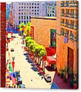 Stockton Street San Francisco . View Towards Union Square Canvas Print