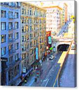 Stockton Street Tunnel In Heavy Shadow Canvas Print