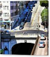Stockton Street Tunnel In Hilly San Francisco . 7d7499 Canvas Print