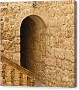 Stone Arch And Stairway Canvas Print