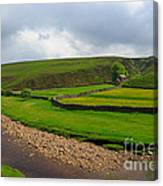 Stone Barn In A Fold Of The Landscape Canvas Print