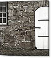Stone Barn Window Cathedral Door Canvas Print