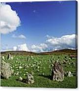 Stone Circles On A Landscape, Beaghmore Canvas Print