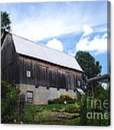 Stone Cottage Barn Canvas Print