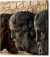 Stone Faces Canvas Print