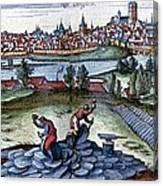 Stone Quarry, Historical Artwork Canvas Print