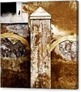 Stone Sight - Two Arches And A Column Draws A Disturbing Almost Human Face Canvas Print