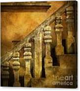 Stone Stairs And Balustrade. Canvas Print