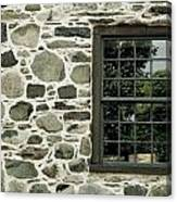 Stone Wall With A Window Canvas Print